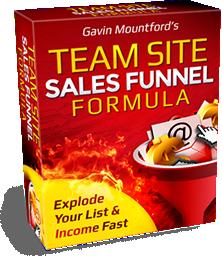 Team Site Sales Funnel Formula